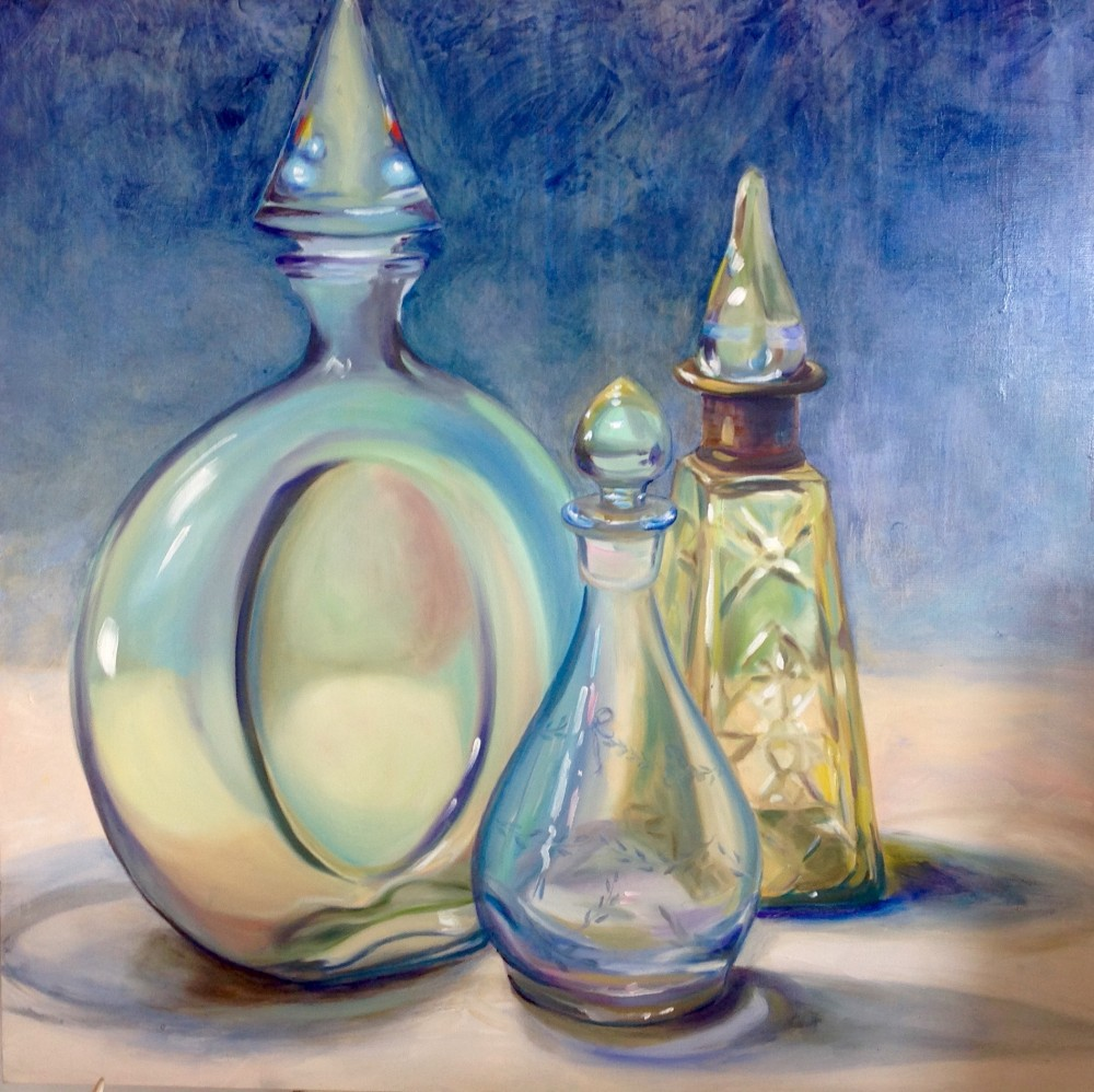 Exotic Perfume Bottles by Claire Spring