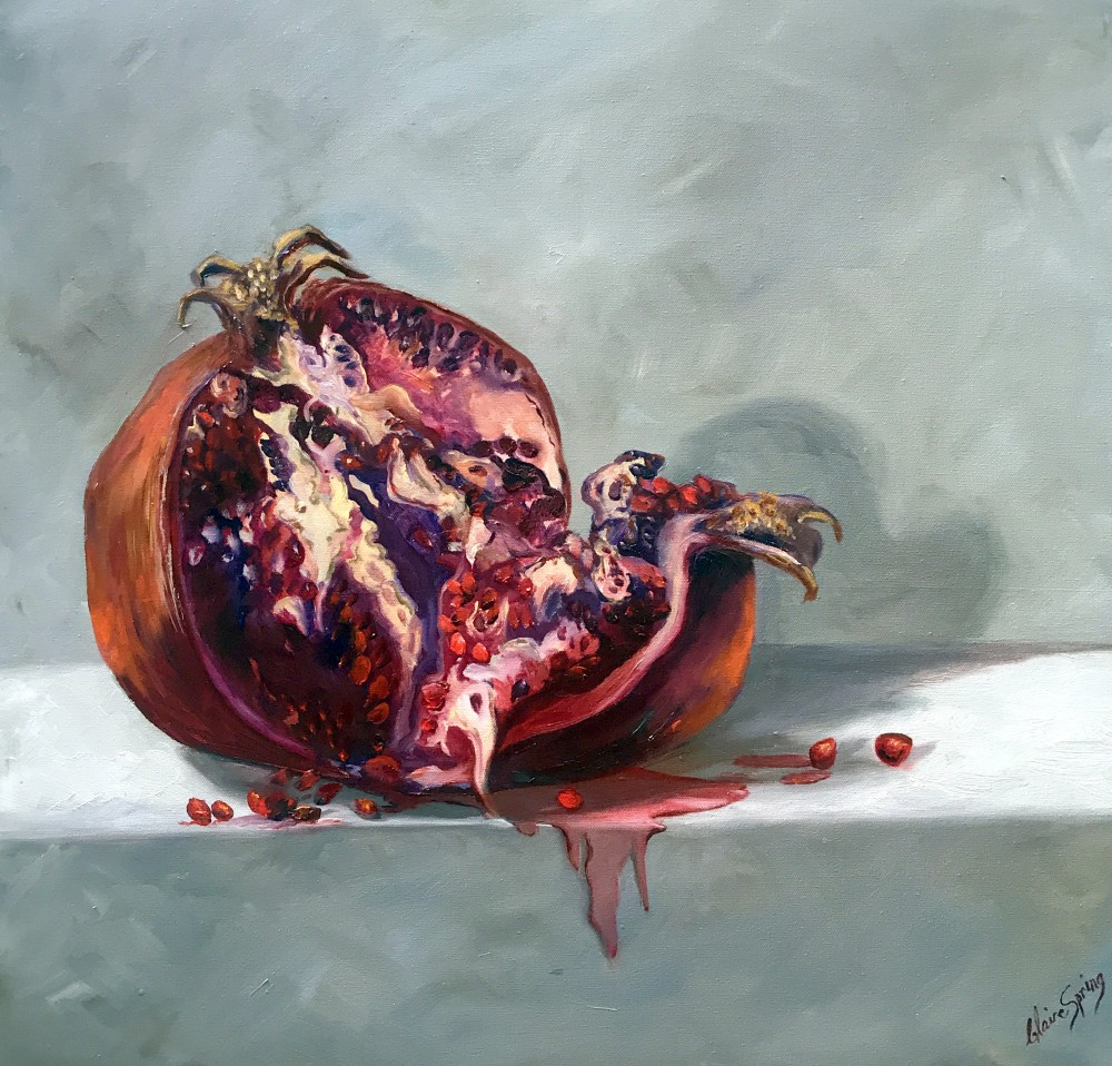 Luscious Fruit 1- Pomegranate $1200 by Claire Spring